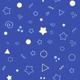 Good Night seamless pattern with stars. Sweet dreams background. Vector illustration stock photo