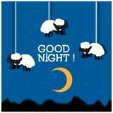 Good night with sheep illustration vector design. EPS file available. see more images related stock illustration