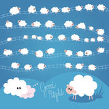 Good Night Sheeps Royalty Free Stock Image
