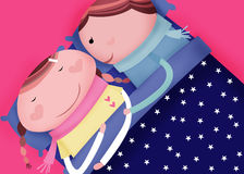 Good night sleep. I wish to see u every morning when i woke up royalty free illustration