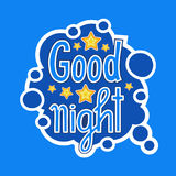 Good Night Sticker Social Media Network Message Badges Design Stock Images