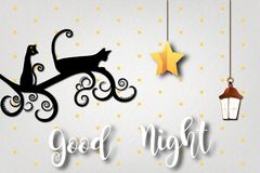 Good night and sweet dreams illustration design. Colorful good night and sweet dreams illustration design Stock Photos