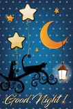 Good night and sweet dreams illustration design. Colorful good night and sweet dreams illustration design Royalty Free Stock Image