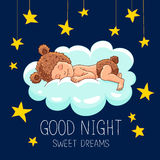 Good night. Sweet Dreams. Royalty Free Stock Image