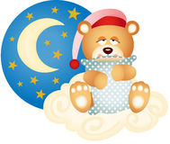 Good night teddy bear Royalty Free Stock Photos
