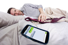 Good Night Text Messages Stock Photography