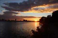 Good night Toronto. A beautiful sunset Royalty Free Stock Photography