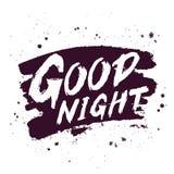 Good night. Trend calligraphy. Royalty Free Stock Photos