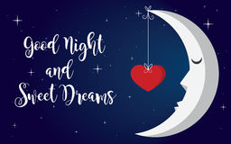 Good night. Unique illustration design Stock Images