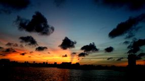 Sunset in Colombo Royalty Free Stock Images