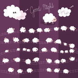 Good Night Vector Illustration for Kids with Indiv Royalty Free Stock Photo