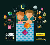 Good Night vector logo design template. Dream Royalty Free Stock Photography