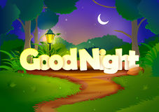 Good Night wallpaper background Stock Images