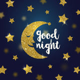 Good night wishes illustration Stock Photography