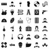 Good occupation icons set, simple style Royalty Free Stock Photo