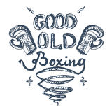 Good old boxing Royalty Free Stock Photography