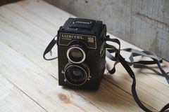 Good old camera Lubitel universal royalty free stock photography
