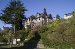 Good old neighborhood. Quiet Queen Anne neighborhood in Seattle. Old houses for middle class Stock Images