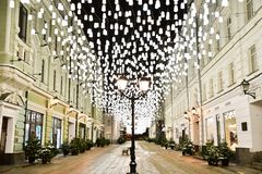 Good old street of Moscow stock photo