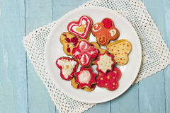 Good oldfashioned homemade cookies Royalty Free Stock Photos