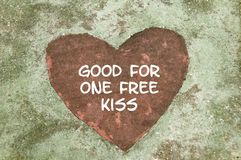 Good for One Free Kiss Stock Photos