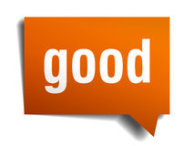 Good orange speech bubble Stock Photos