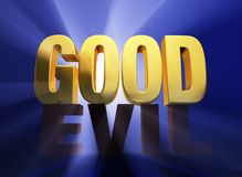 Good Over Evil Stock Images