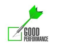 Good performance check dart illustration design Royalty Free Stock Image