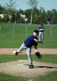 Good Pitch. A young boy playing pitcher on a baseball team Royalty Free Stock Photography