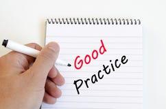 Good practice text concept on notebook Stock Photos