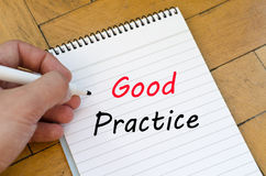 Good practice text concept on notebook Royalty Free Stock Image