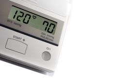 Good pressure. Blood pressure monitor with healthy reading Stock Images