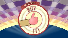 Good product, Buy It, vintage marketing poster Royalty Free Stock Image