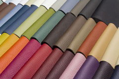 A good quality leather in various colors Royalty Free Stock Image