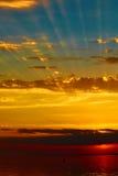 Good red sunset over darken sea. The good red sunset over darken sea Royalty Free Stock Photo
