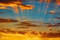 Good red sunset over darken sea. The good red sunset over darken sea Royalty Free Stock Photography