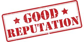 "Good reputation rubber stamp. An illustration of a rubber stamp with the text ""good reputation Royalty Free Stock Photo"