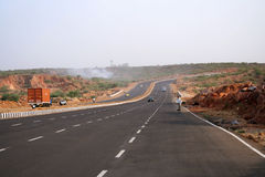 Good road highways - a new face of India. Fats paced development and new multilane highways in  around Gurgain and New Delhi India the IT City Stock Images