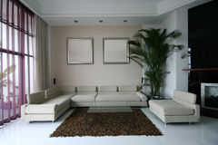 Good room decoration. A modern family room decoration Stock Photo