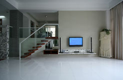Good room decoration. A modern family room decoration Royalty Free Stock Photography