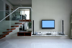 Good room decoration. A modern family room decoration Stock Photography