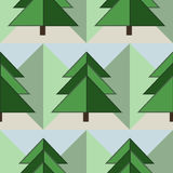 Good Seamless Firs Forest Pattern. Good Seamless Geometrical Green Firs Forest Pattern Royalty Free Stock Image