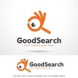 Good Search Logo Template Design Vector Stock Photo