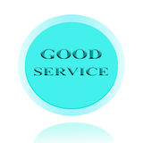 Good Service icon or symbol image concept design with business f Royalty Free Stock Photo
