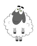 Good sheep. Cute fluffy sheep with angel view Stock Image
