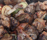 Good shish kebab. Close up. Royalty Free Stock Photos