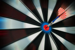 Good shot. Target on darts - good shot Stock Photography