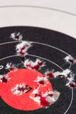 Good Shot. Paper target with bullet holes in it Royalty Free Stock Photos