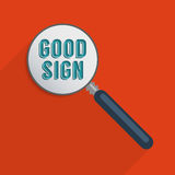 Good sign. Concept for optimism, hope and great expectations. Flat design element Stock Illustration