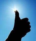 Good sign in sky. Stock Images